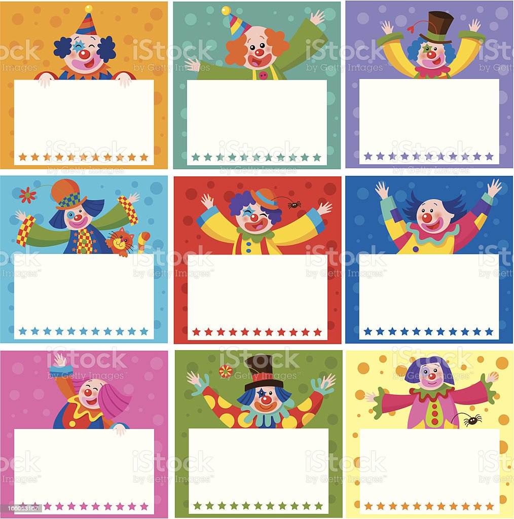 Birthday cards with clowns royalty-free birthday cards with clowns stock vector art & more images of birthday