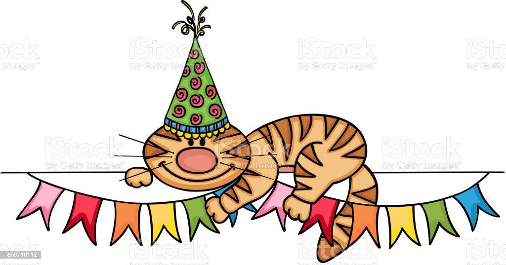 Verjaardag Kat Banner Stockvectorkunst En Meer Beelden Van Afgelegen