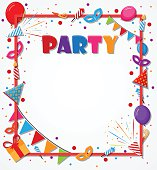 Birthday Celebration background with party icons