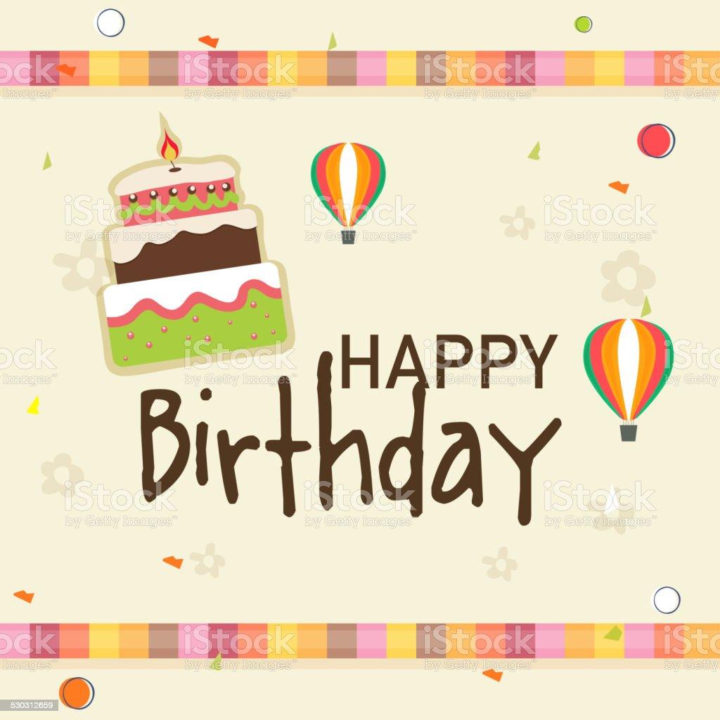 Uroczystość Urodziny Zaproszenie Wzór Karty Stockowe Grafiki