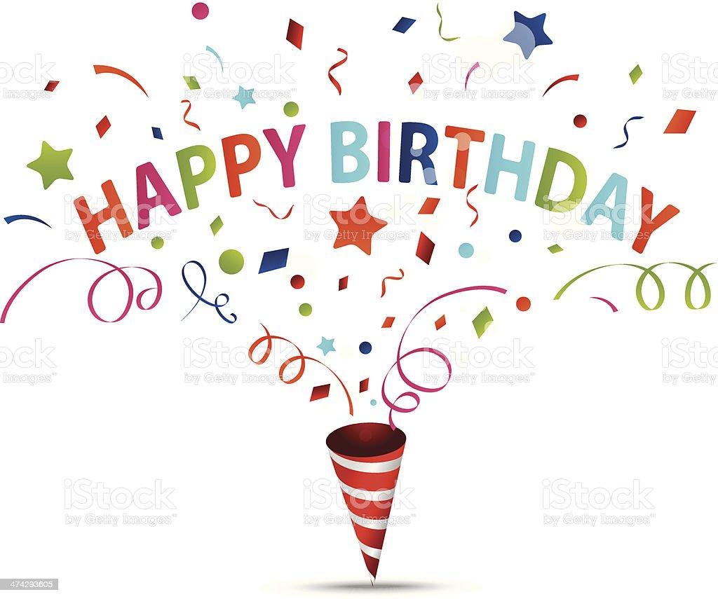 Birthday Celebration With Confetti Stock Vector Art & More