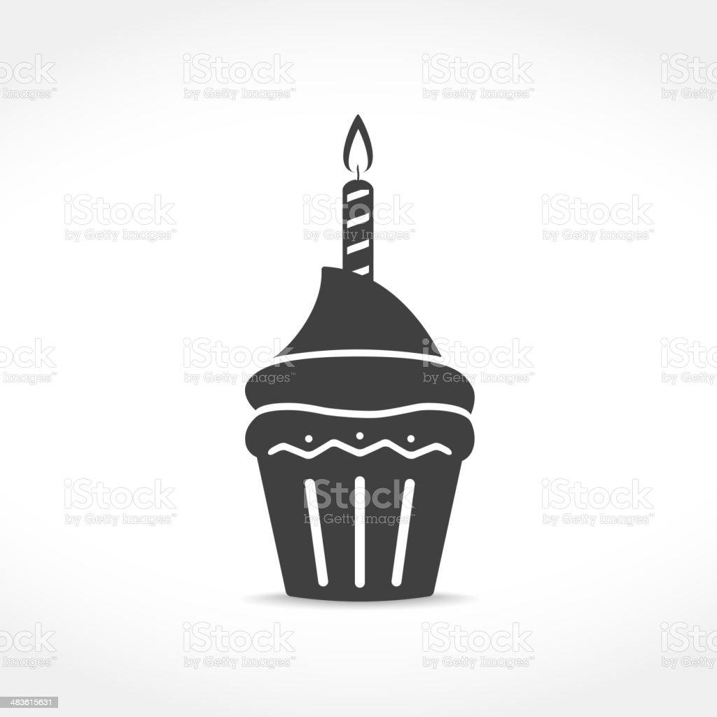 Geburtstag Cupcake-Symbol – Vektorgrafik