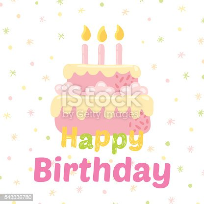 Birthday cupcake vector icons.