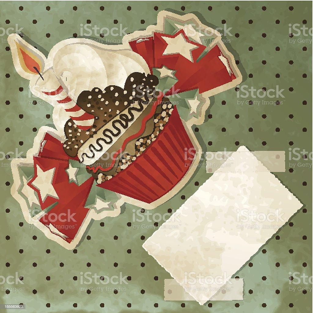 Birthday Cupcake royalty-free stock vector art