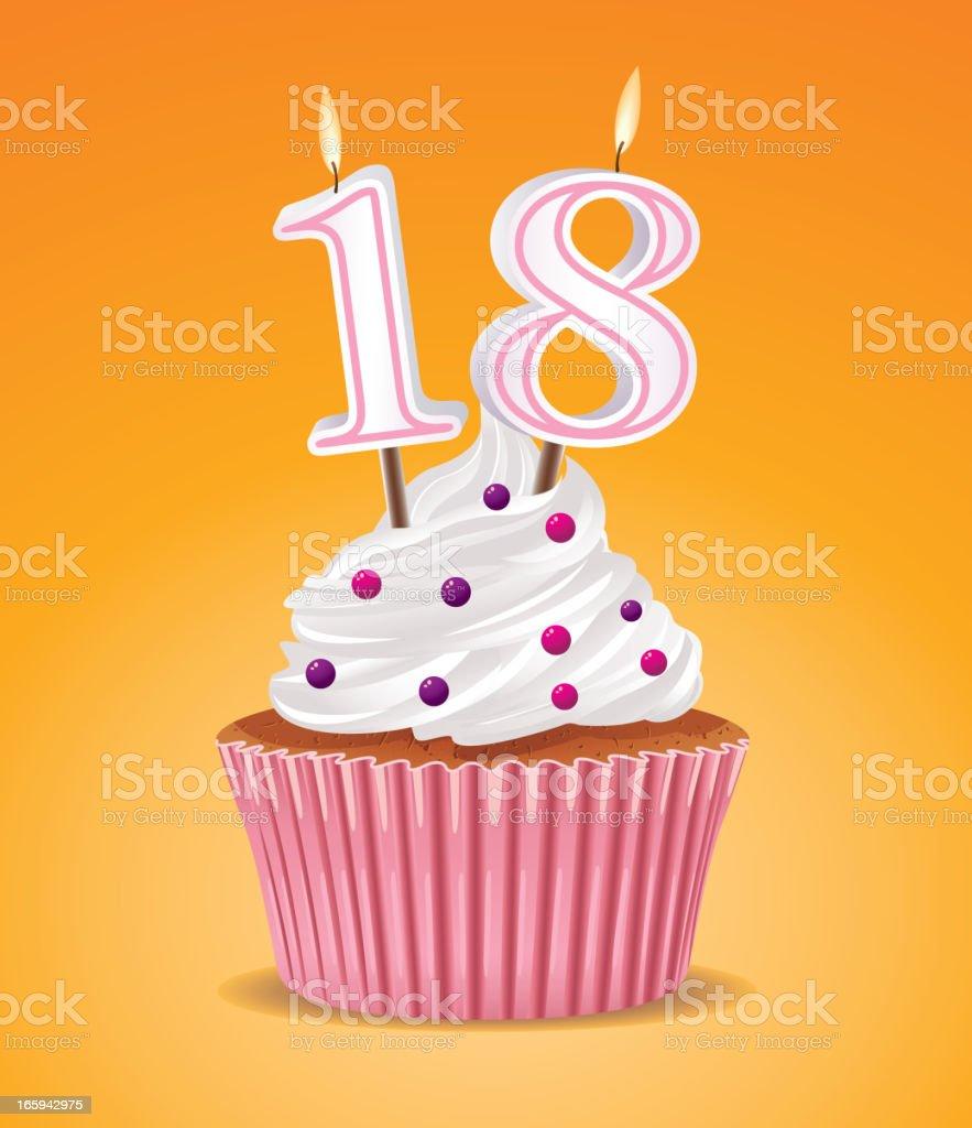 Birthday cupcake royalty-free birthday cupcake stock vector art & more images of 18-19 years
