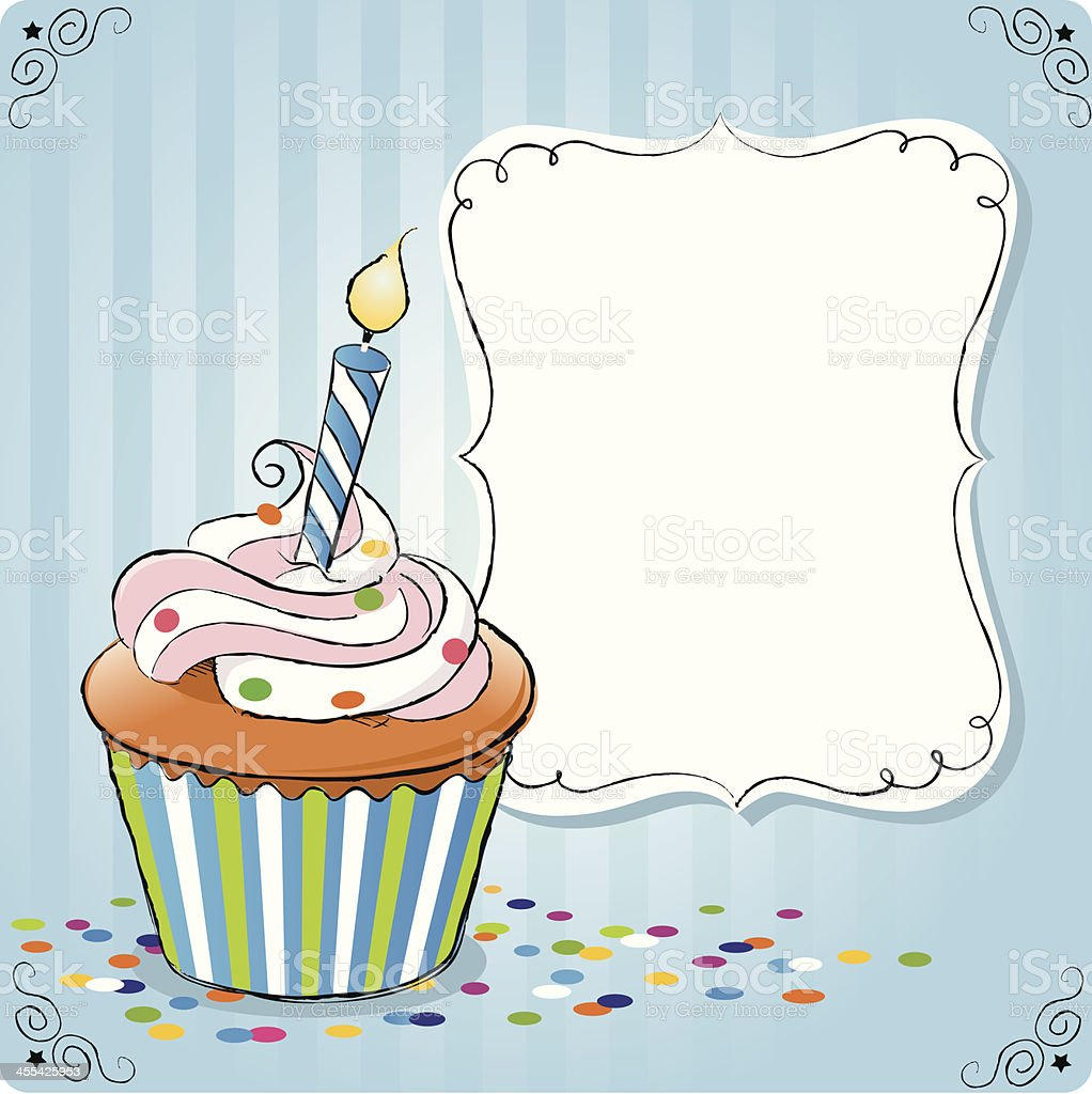 Geburtstag cupcake – Vektorgrafik