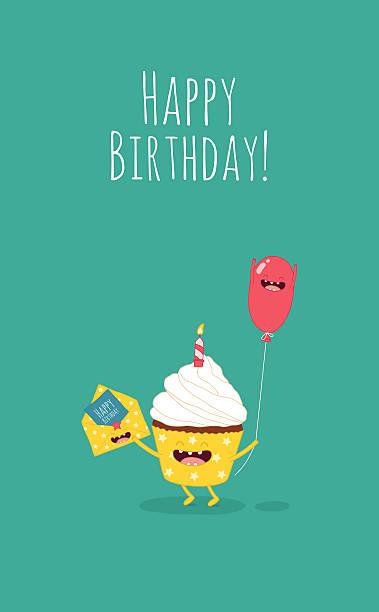 illustrations, cliparts, dessins animés et icônes de gâteau d'anniversaire - ballon anniversaire smiley
