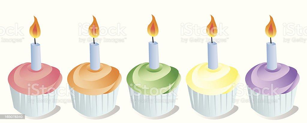 Birthday Cupcakes royalty-free stock vector art