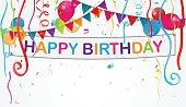 Birthday decoration background