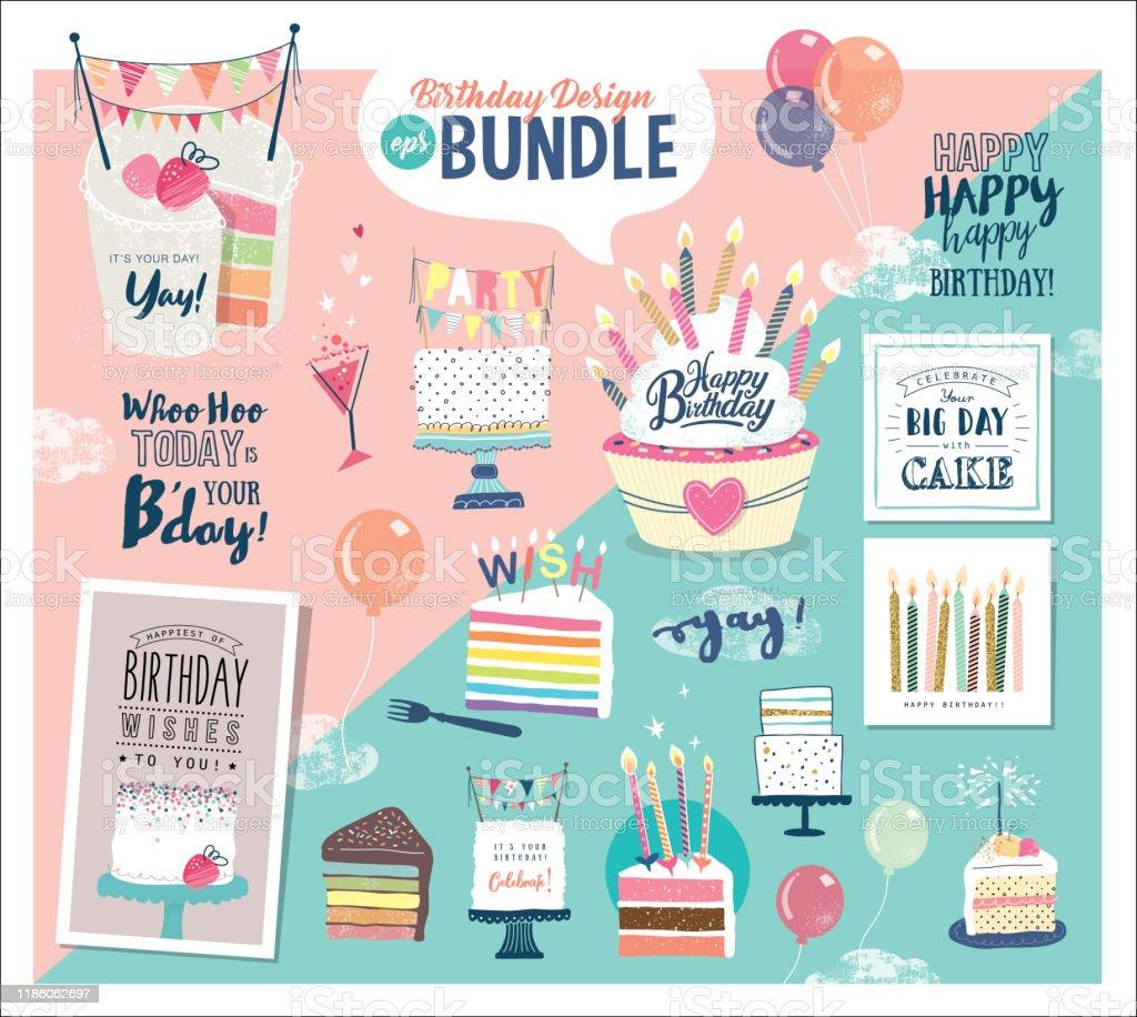 Superb A Birthday Design Bundle Ideal To Create Your Own Birthday Cards Funny Birthday Cards Online Inifodamsfinfo