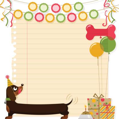 Birthday dog Dachshund decoration pet party happy