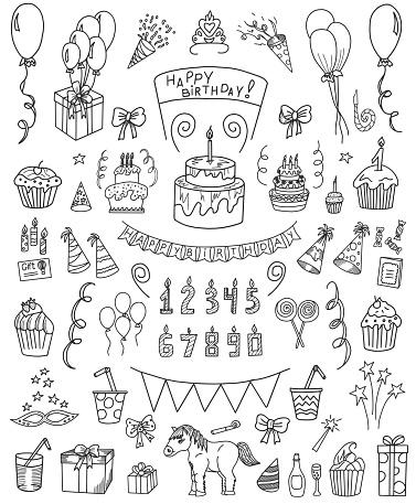 Birthday Doodle Set
