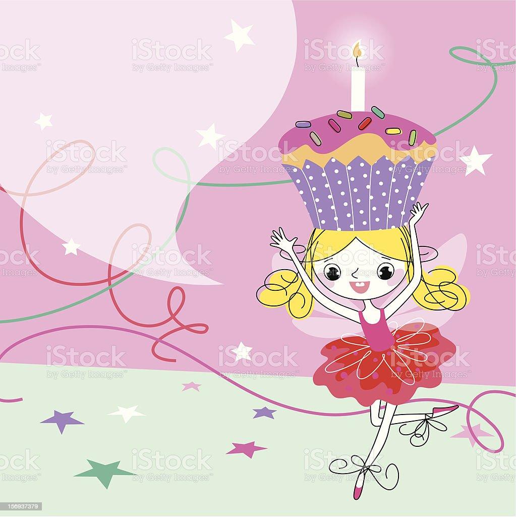 Birthday Fairy royalty-free stock vector art