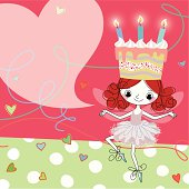 Birthday Fairy and Cake-Candle-Hat