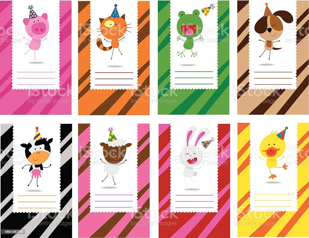 Birthday farm animals cards royalty-free birthday farm animals cards stock vector art & more images of 2015