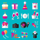 Birthday Flat Icons