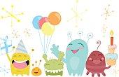 Birthday funny monsters