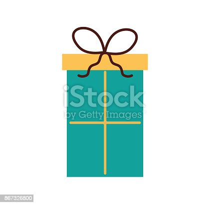 Birthday Gift Box Wrapped Ribbon Decoration Stock Vector Art More