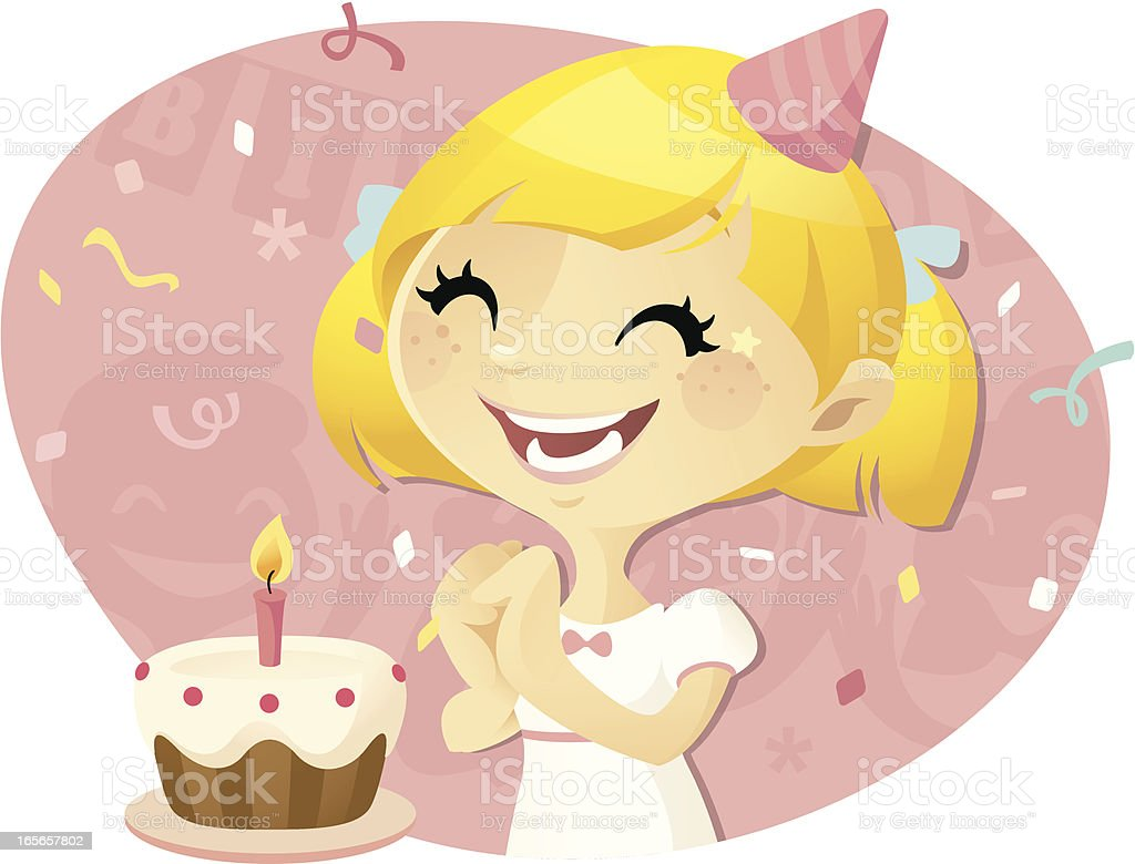 Birthday Girl vector art illustration