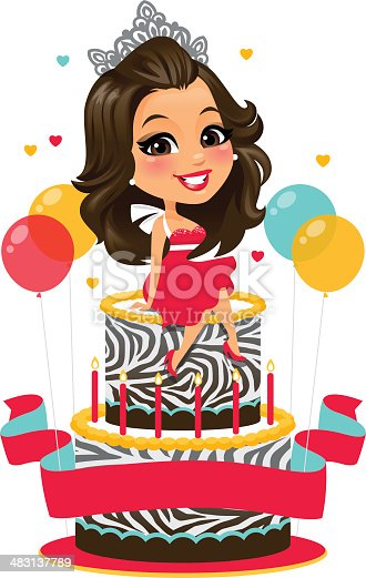 Birthday Girl Stock Vector Art & More Images of Adult ...