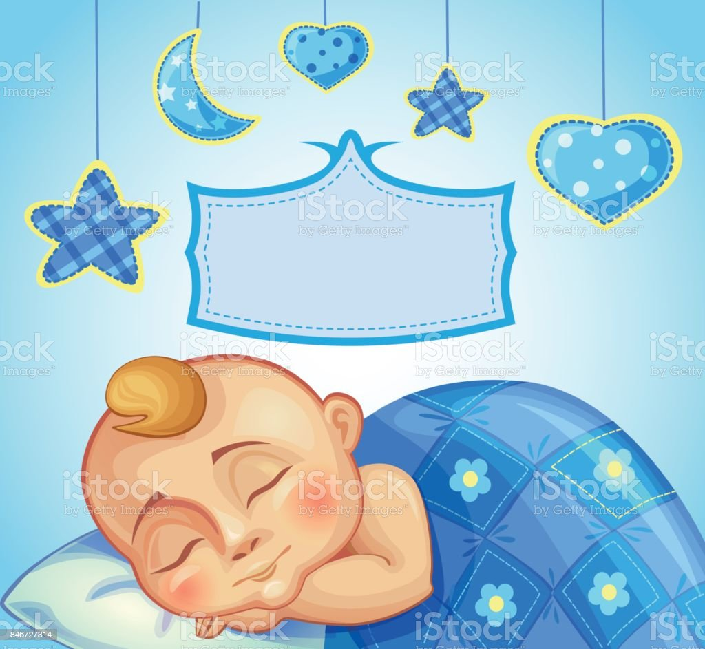Birthday Greeting Card For Newborn Boy Stock Vector Art More