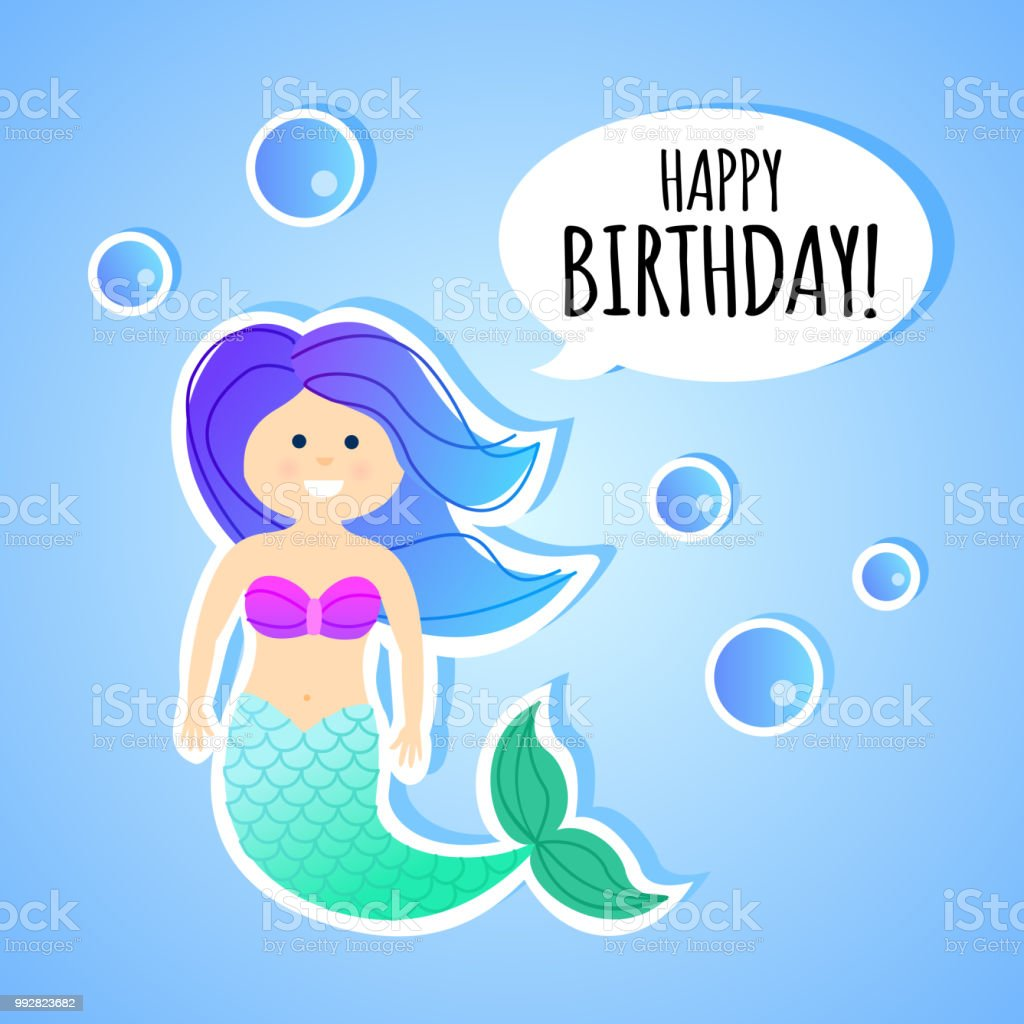 Birthday greeting card with mermaid for children stock vector art birthday greeting card with mermaid for children royalty free birthday greeting card with mermaid for m4hsunfo