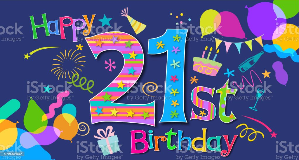 Birthday Greeting vector art illustration