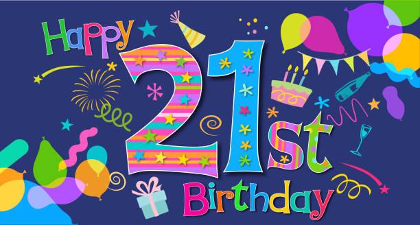 52 21st Birthday Illustrations Royalty Free Vector Graphics Clip Art Istock