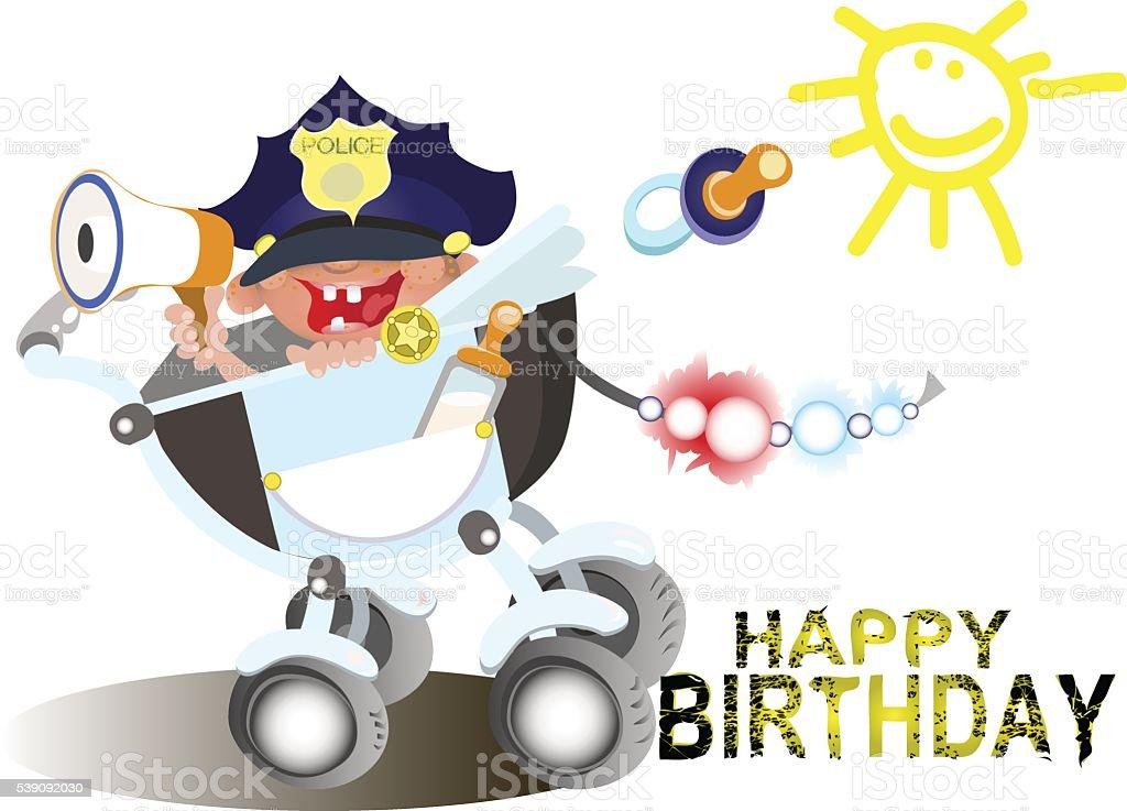 Открытки сотруднику полиции с днем рождения, фигурами для