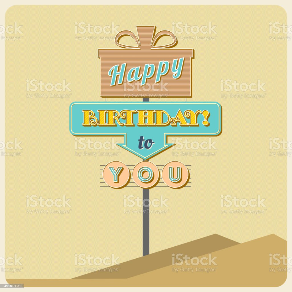 Birthday greetings sign. royalty-free stock vector art