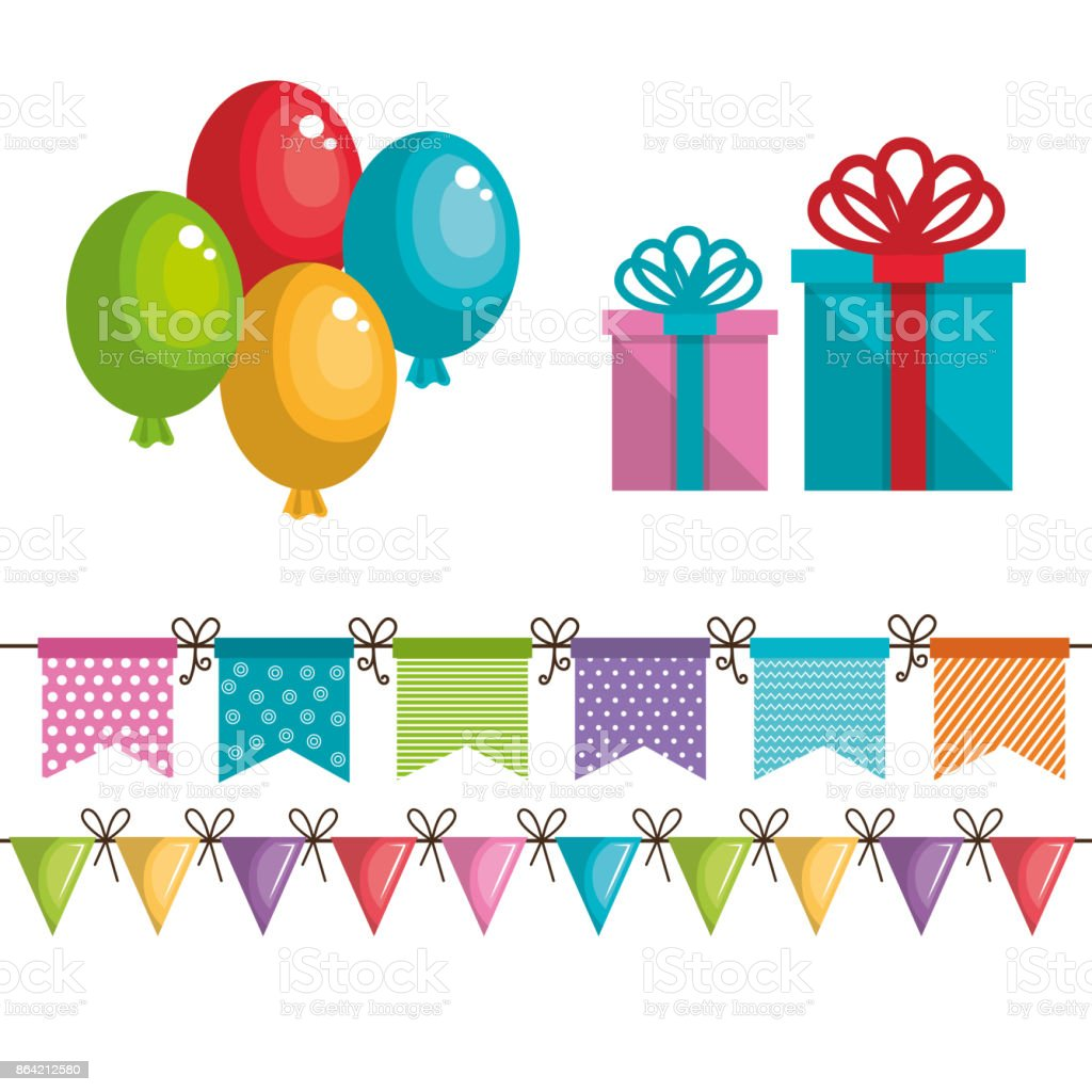 birthday icons decoration with white background royalty-free birthday icons decoration with white background stock vector art & more images of anniversary