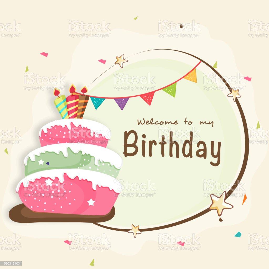 Birthday Invitation Card Design Stock Illustration