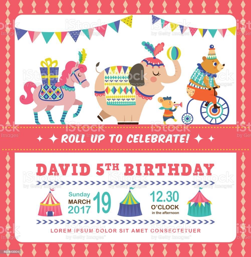 Birthday Invitation Card Stock Illustration Download Image