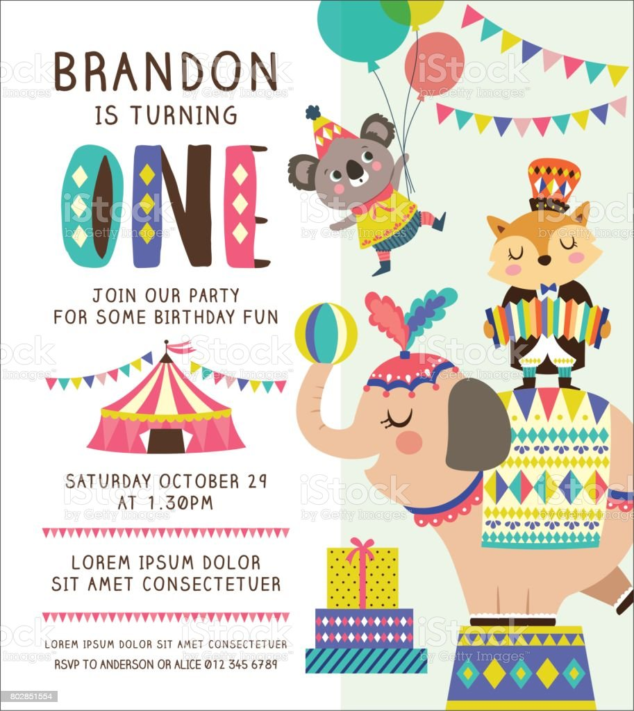 Birthday Invitation Card Stock Vector Art & More Images of Accordion ...