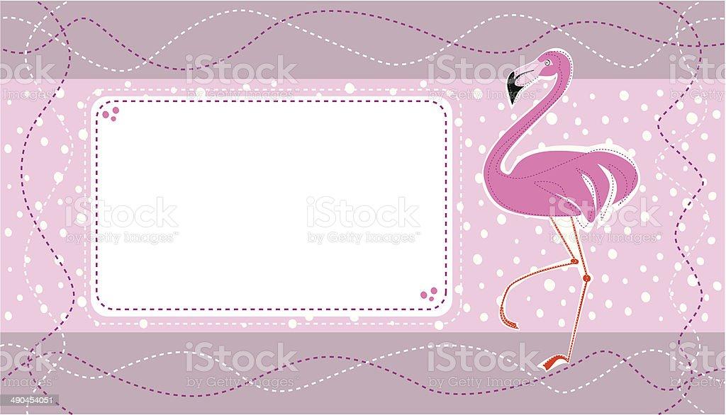 Invitation Carte Danniversaire Avec Un Joli Flamant Rose Cliparts