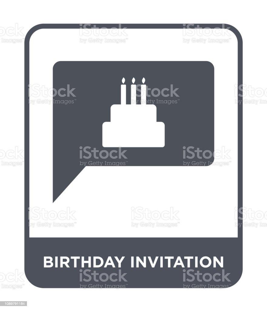 birthday invitation icon vector on white background, birthday...