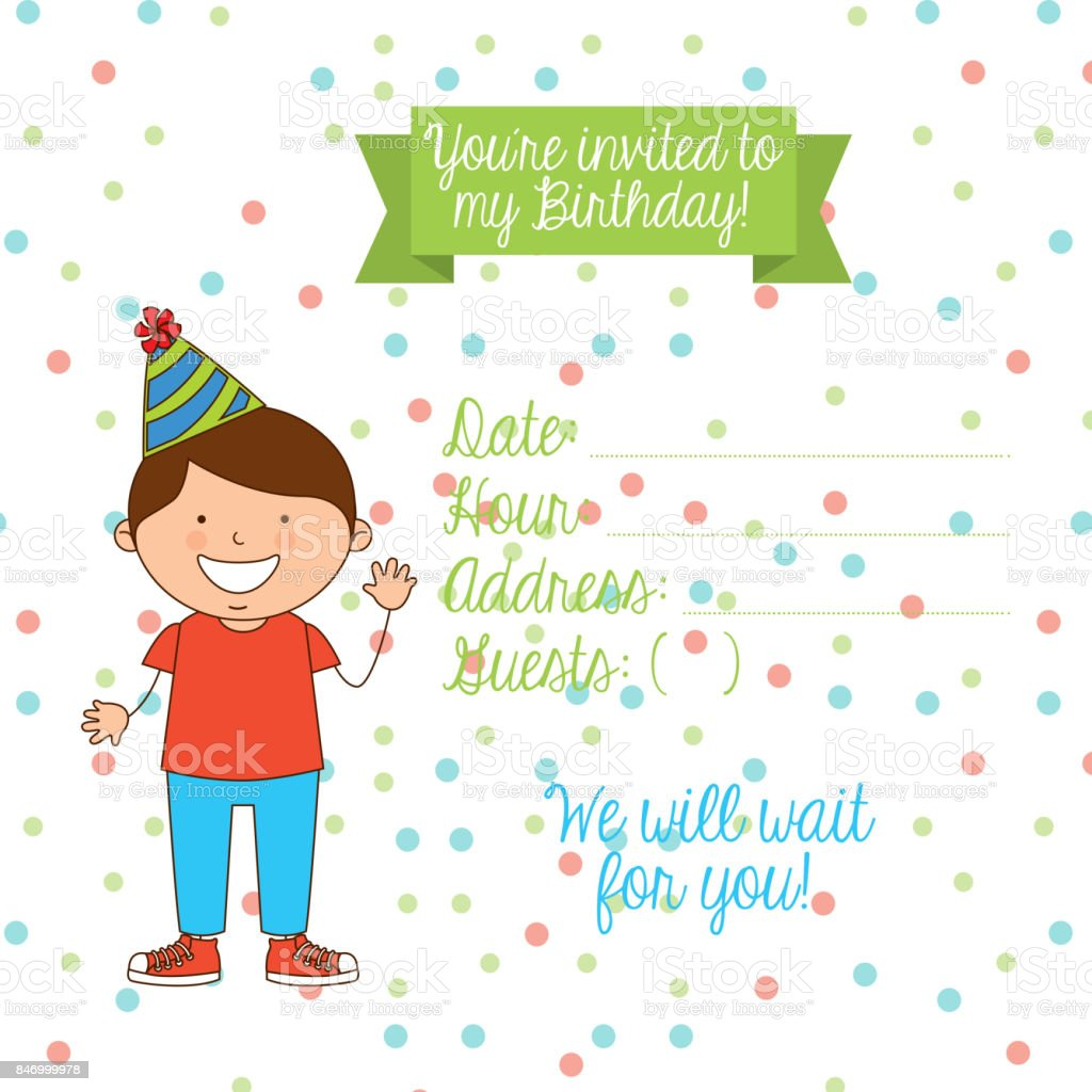 Birthday Invitation Royalty Free Stock Vector Art Amp More Images Of Backgrounds