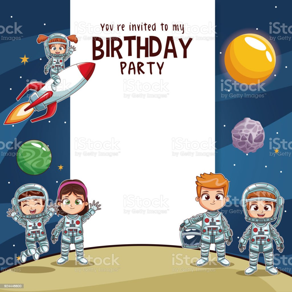 Terrific Birthday Kids Invitation Party Card Stock Illustration Download Personalised Birthday Cards Paralily Jamesorg
