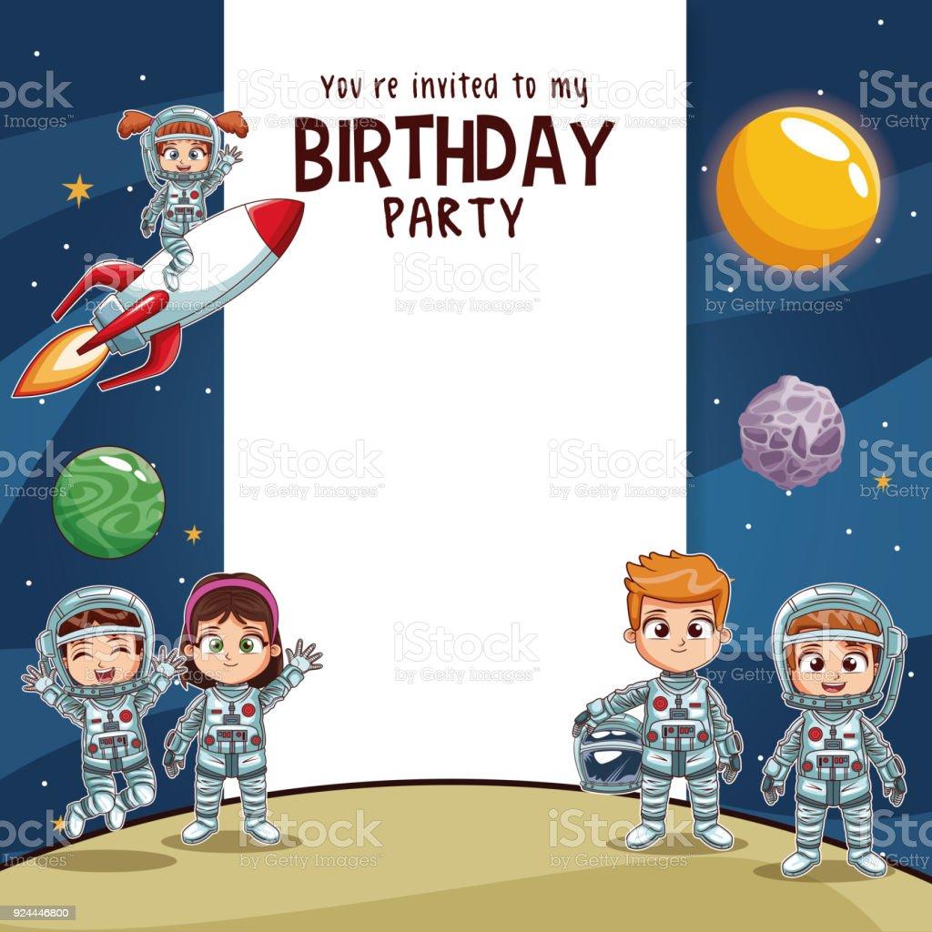 Strange Birthday Kids Invitation Party Card Stock Illustration Download Personalised Birthday Cards Paralily Jamesorg