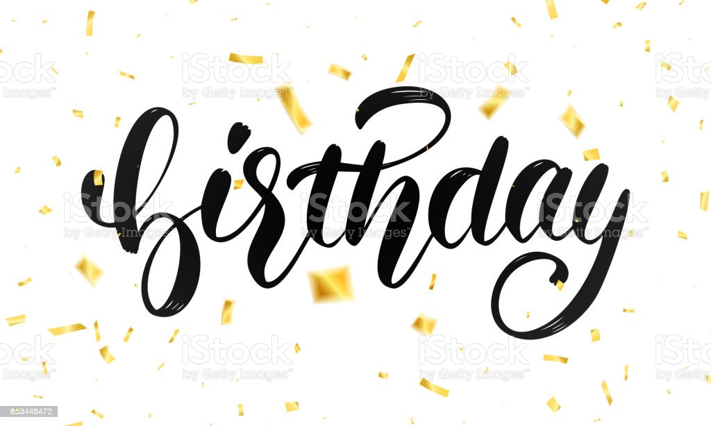 Birthday lettering design for greeting cards or invitation