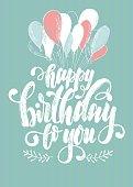 birthday lettering symbol