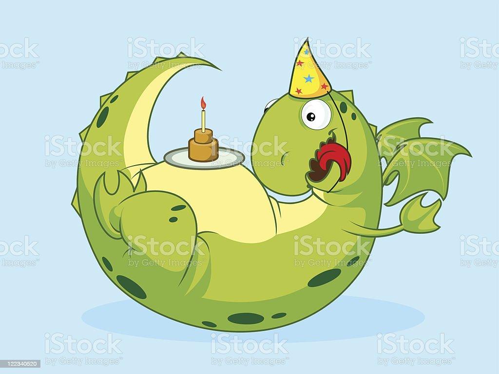 Birthday of a dragon. royalty-free stock vector art