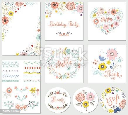 istock Birthday Parti Floral Set 543596696