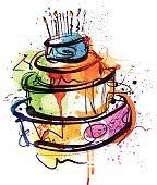 istock Birthday Party Cake 482852805