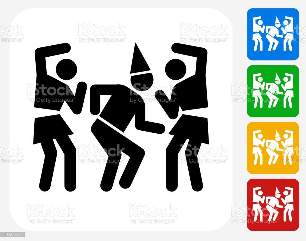 Birthday Party Icon Flat Graphic Design vector art illustration