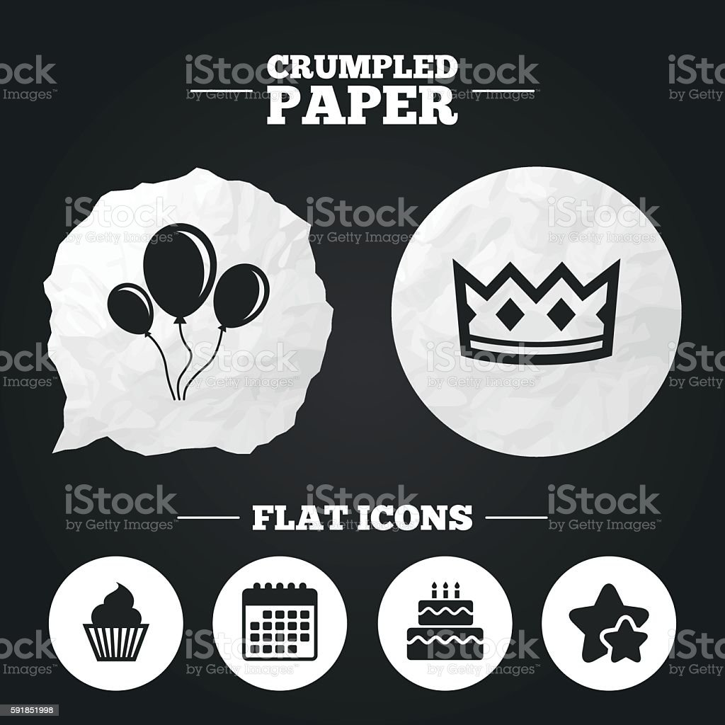 Birthday party icons cake and cupcake symbol stock vector art birthday party icons cake and cupcake symbol royalty free stock vector art biocorpaavc