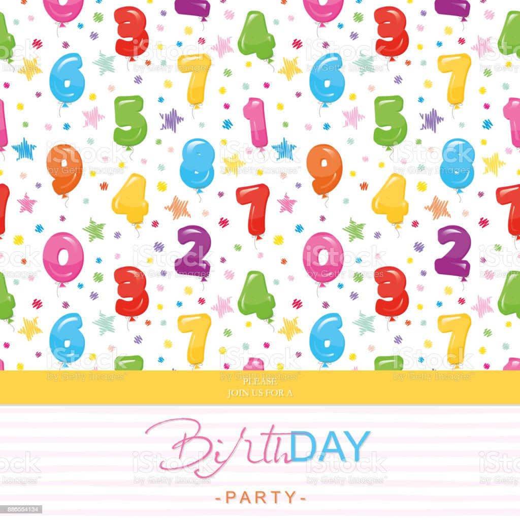 Ilustración De Tarjeta De Invitación De Fiesta De Cumpleaños