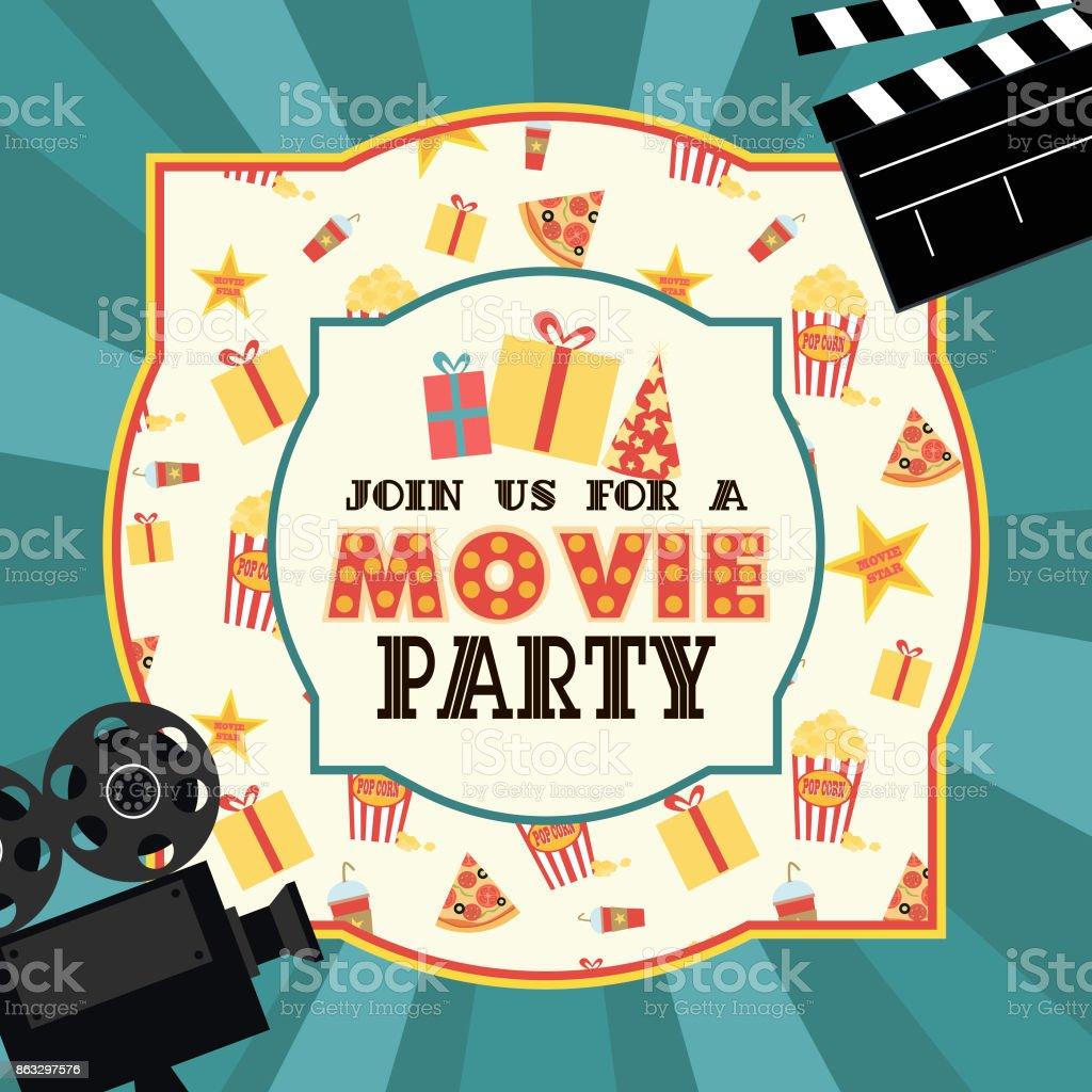 Ilustración De Tarjeta De Invitación De Cumpleaños Partido