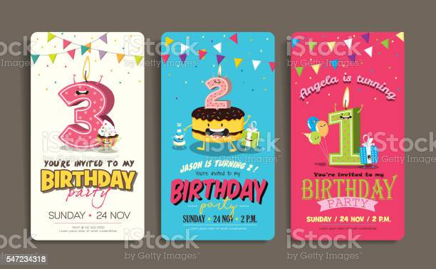 Free Birthday Invitation Vector Art