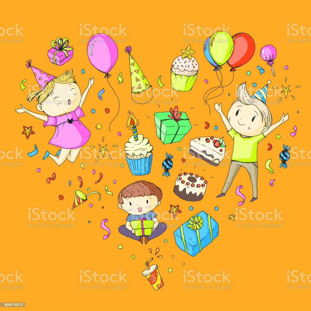 Birthday Party Kindergarten Children Kids Drawing Party Invitation ...